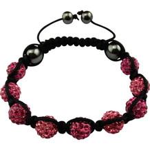 """Magnetisk armbånd """"Shamballa"""" Black / Pink"""